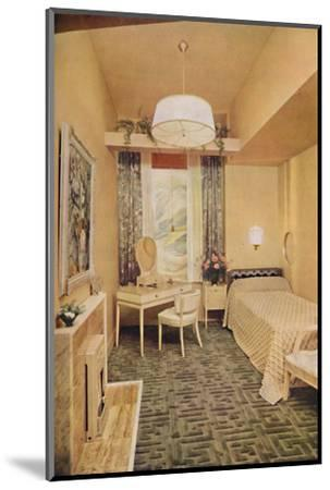 Bedroom designed by Esmé Gordon, A.R.I.B.A., A.R.I.A.S.-Unknown-Mounted Photographic Print