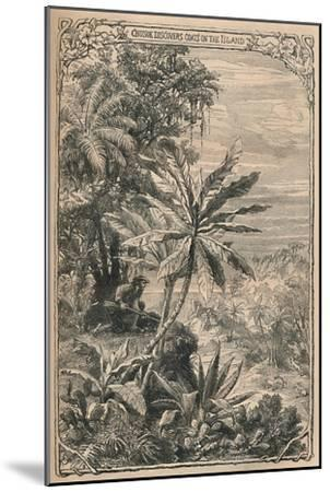 'Crusoe Discovers Goats on the Island', c1870-Unknown-Mounted Giclee Print