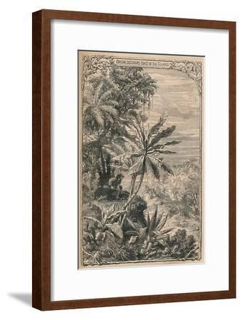 'Crusoe Discovers Goats on the Island', c1870-Unknown-Framed Giclee Print
