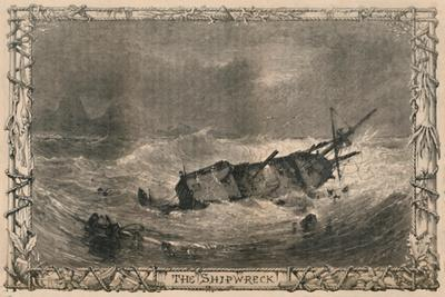 'The Shipwreck', c1870-Unknown-Framed Giclee Print
