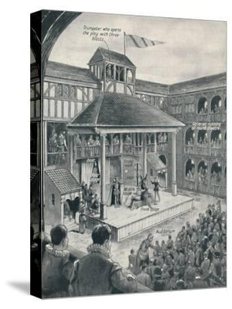 'A London Theatre in Shakespeare's Time', c1934-Unknown-Stretched Canvas Print