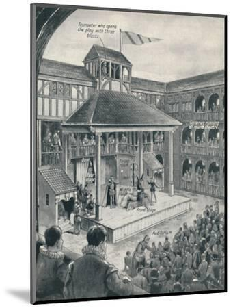 'A London Theatre in Shakespeare's Time', c1934-Unknown-Mounted Giclee Print