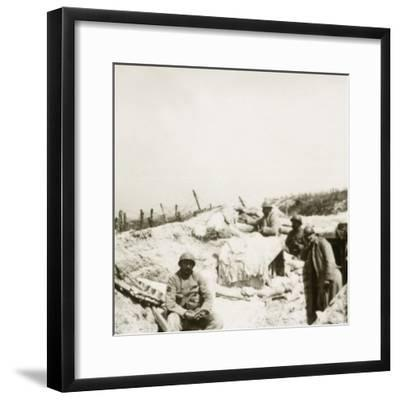 Look-out post, Massiges, northern France, c1914-c1918-Unknown-Framed Photographic Print