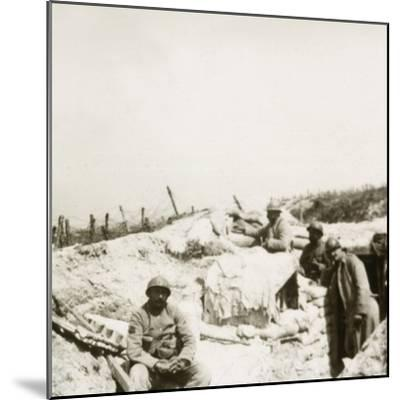 Look-out post, Massiges, northern France, c1914-c1918-Unknown-Mounted Photographic Print