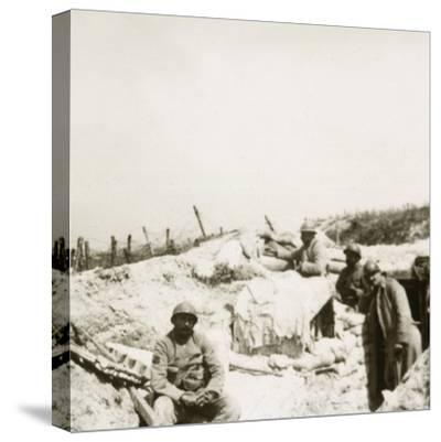 Look-out post, Massiges, northern France, c1914-c1918-Unknown-Stretched Canvas Print