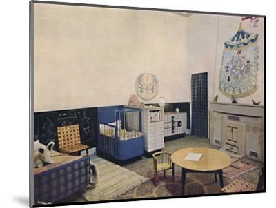 'Nursery designed by Esmé Gordon, A.R.I.B.A., A.R.I.A.S.', c1945-Unknown-Mounted Photographic Print