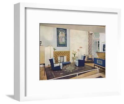 'Exhbition living-room designed by Esmé Gordon, A.R.I.B.A., A.R.I.A.S.', c1945-Unknown-Framed Photographic Print