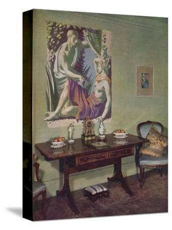 'Drawing-room in a London flat decorated by Frankland Dark, F.R.I.B.A. for his own use', c1945-Unknown-Stretched Canvas Print