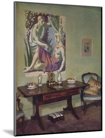 'Drawing-room in a London flat decorated by Frankland Dark, F.R.I.B.A. for his own use', c1945-Unknown-Mounted Photographic Print