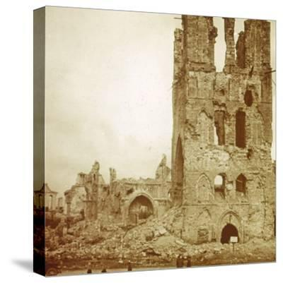 Ruined cathedral, Ypres, Flanders, Belgium, c1914-c1918-Unknown-Stretched Canvas Print