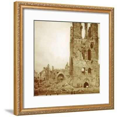 Ruined cathedral, Ypres, Flanders, Belgium, c1914-c1918-Unknown-Framed Photographic Print
