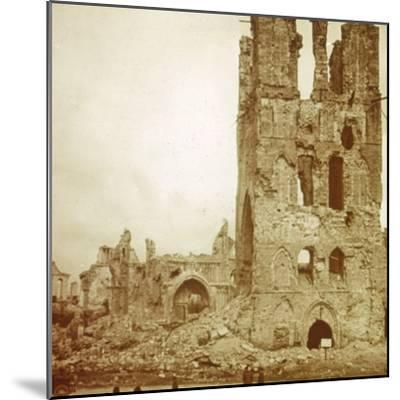 Ruined cathedral, Ypres, Flanders, Belgium, c1914-c1918-Unknown-Mounted Photographic Print