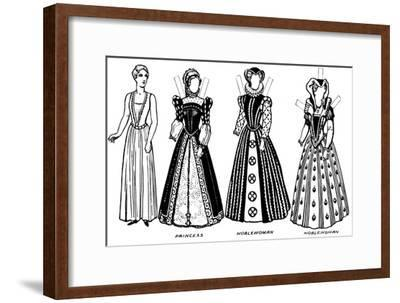 'The Gallery of Costume: Dresses Worn in the Days When Queen Mary Reigned', c1934-Unknown-Framed Giclee Print