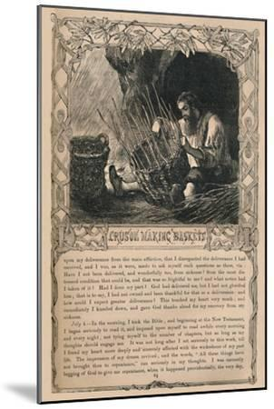'Crusoe Making Baskets', c1870-Unknown-Mounted Giclee Print