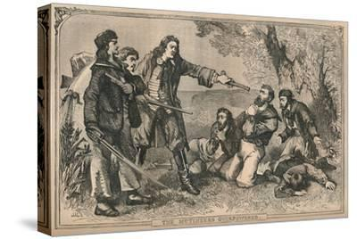 'The Mutineers Overpowered', c1870-Unknown-Stretched Canvas Print