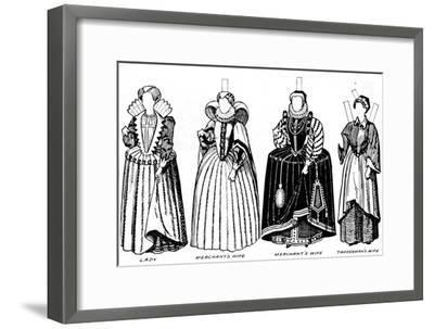 'The Great Gallery of Costume: Varied Dresses Worn in the Days of Elizabeth', c1934-Unknown-Framed Giclee Print