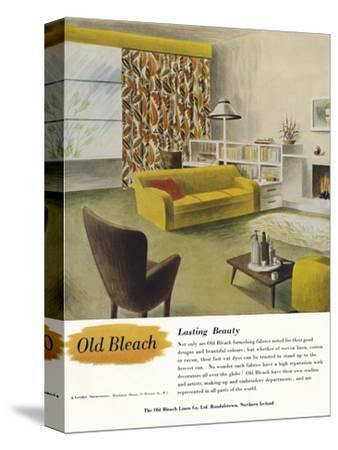 'Lasting Beauty - Old Bleach Linen Co. advertisement', c1945-Unknown-Stretched Canvas Print