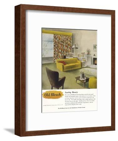 'Lasting Beauty - Old Bleach Linen Co. advertisement', c1945-Unknown-Framed Photographic Print