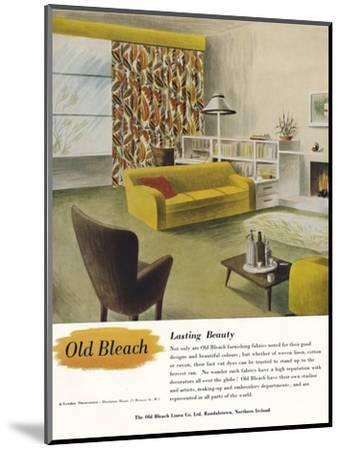 'Lasting Beauty - Old Bleach Linen Co. advertisement', c1945-Unknown-Mounted Photographic Print