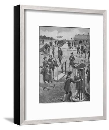 'Curious Old-Time Military Punishments', c1934-Unknown-Framed Giclee Print