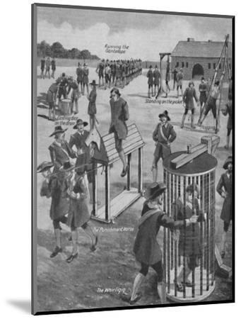 'Curious Old-Time Military Punishments', c1934-Unknown-Mounted Giclee Print