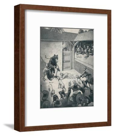 'Bear-Baiting in a Stuart Bear Pit', c1934-Unknown-Framed Giclee Print