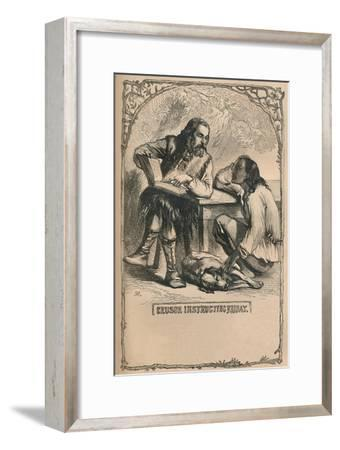 'Crusoe Instructing Friday', c1870-Unknown-Framed Giclee Print