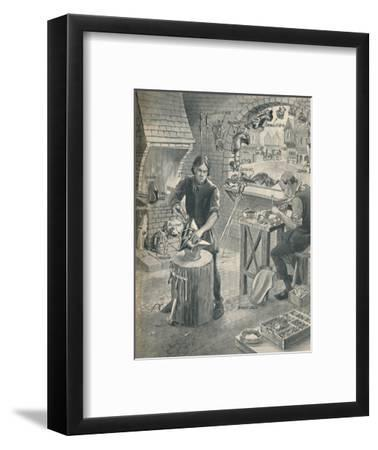 'Making Armour for the Knights of Old', c1934-Unknown-Framed Giclee Print