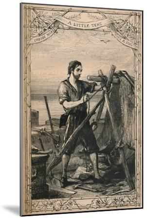 'Crusoe Makes A Little Tent With A Sail', c1870-Unknown-Mounted Giclee Print