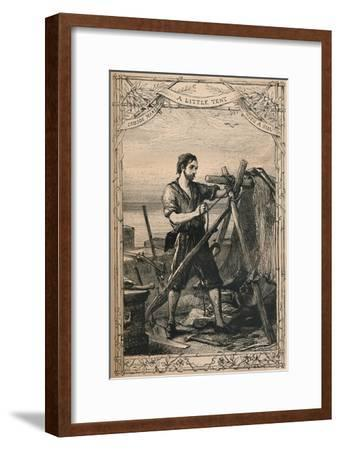 'Crusoe Makes A Little Tent With A Sail', c1870-Unknown-Framed Giclee Print
