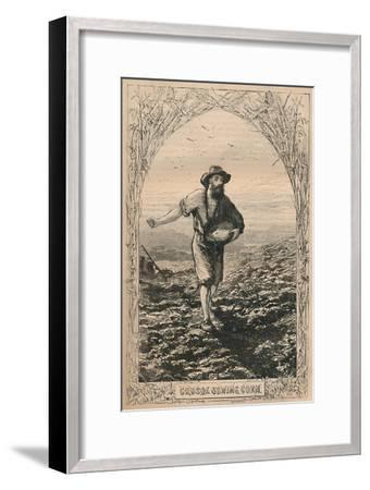 'Crusoe Sowing Corn', c1870-Unknown-Framed Giclee Print