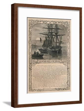 'The Captain Hung at the Yard-Arm', c1870-Unknown-Framed Giclee Print
