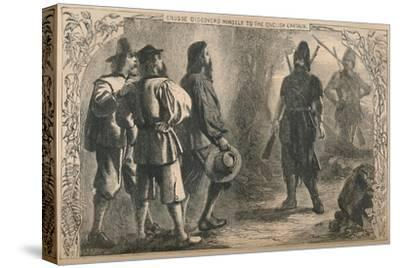 'Crusoe Discovers Himself To The English Captain', c1870-Unknown-Stretched Canvas Print