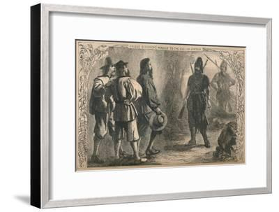 'Crusoe Discovers Himself To The English Captain', c1870-Unknown-Framed Giclee Print