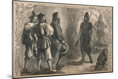 'Crusoe Discovers Himself To The English Captain', c1870-Unknown-Mounted Giclee Print