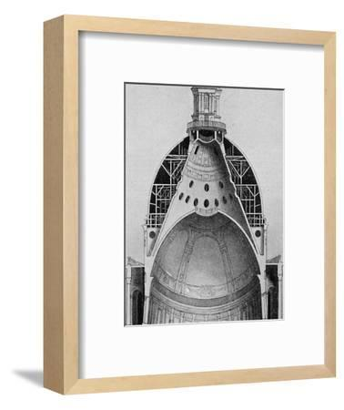 'A sectional drawing of Sir Christopher Wren's great dome', c1934-Unknown-Framed Giclee Print