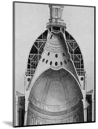 'A sectional drawing of Sir Christopher Wren's great dome', c1934-Unknown-Mounted Giclee Print