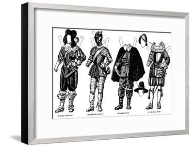'The Great Gallery of Historic Costume: Dresses Worn in James The First's Reign', c1934-Unknown-Framed Giclee Print