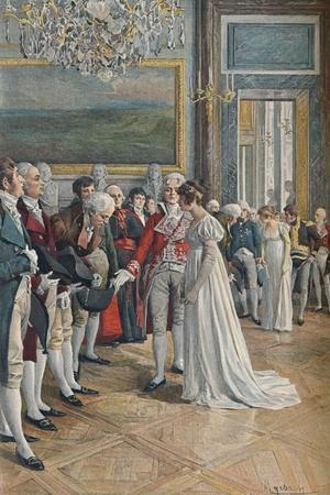 'Madame Bonaparte Receiving Embassadors at the Tuileries', 1896-Unknown-Framed Giclee Print