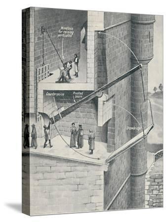 'Raising the Drawbridge of the Castle', c1934-Unknown-Stretched Canvas Print
