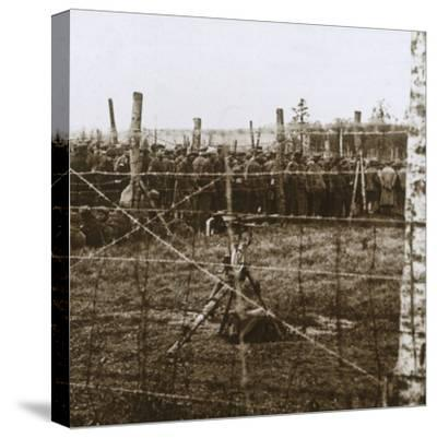 Prisoners at Le Mort Homme, (Dead Man's Hill), northern France, c1914-c1918-Unknown-Stretched Canvas Print