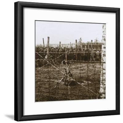 Prisoners at Le Mort Homme, (Dead Man's Hill), northern France, c1914-c1918-Unknown-Framed Photographic Print