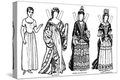 'The Gallery of British Costume: Some of the Dresses Worn in Anne's Reign', c1934-Unknown-Stretched Canvas Print
