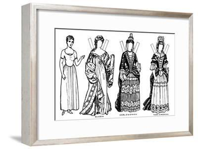 'The Gallery of British Costume: Some of the Dresses Worn in Anne's Reign', c1934-Unknown-Framed Giclee Print