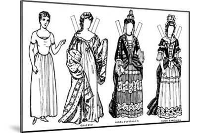 'The Gallery of British Costume: Some of the Dresses Worn in Anne's Reign', c1934-Unknown-Mounted Giclee Print