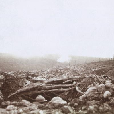 Bombardment, Le Mort Homme, (Dead Man's Hill), northern France, c1914-c1918-Unknown-Framed Photographic Print