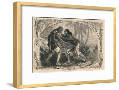 'Friday and His Father', c1870-Unknown-Framed Giclee Print