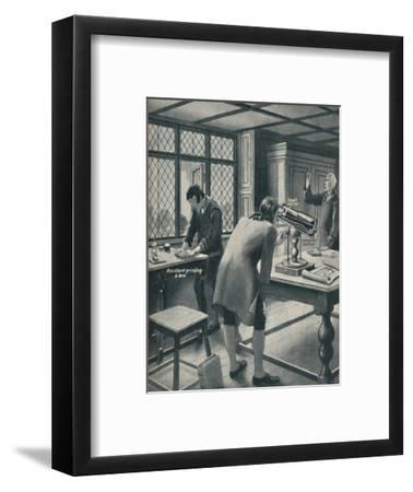 'Newton Invents a New Telescope', c1934-Unknown-Framed Giclee Print