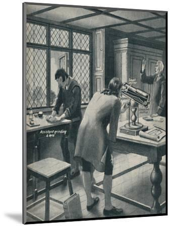 'Newton Invents a New Telescope', c1934-Unknown-Mounted Giclee Print