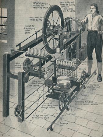 'Crompton's Wonderful Spinning Mule', c1934-Unknown-Framed Giclee Print